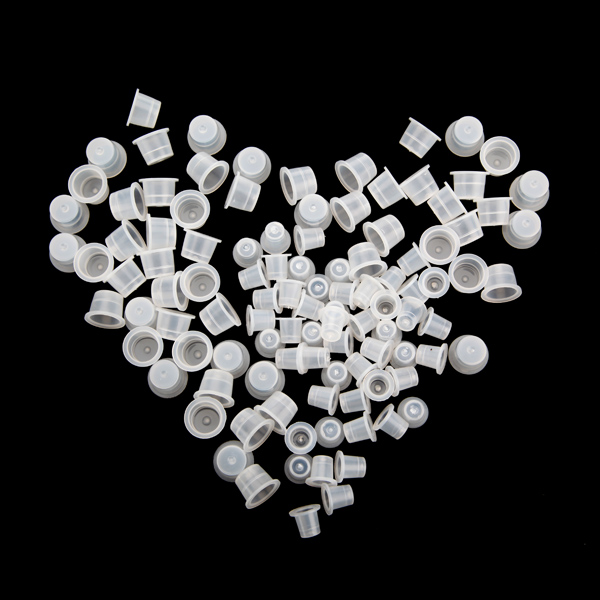 200pcs Plastic Tattoo Ink Cups Supplies Machine Kits