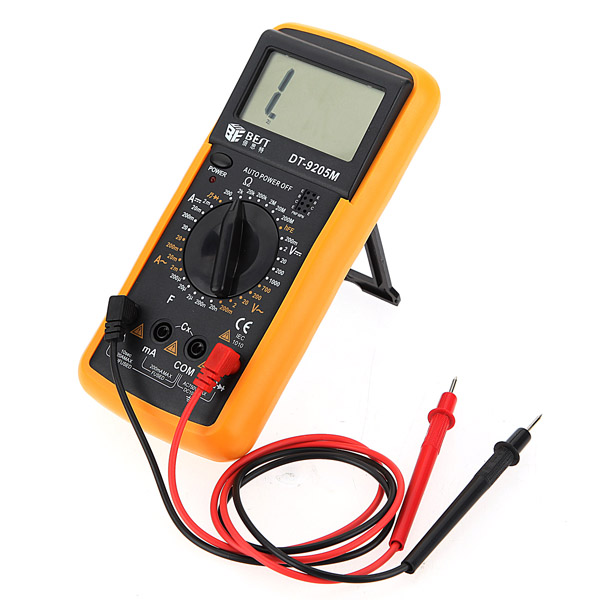 DT9205M LCD AC DC Volt AMP OHM Digital Multimeter ...