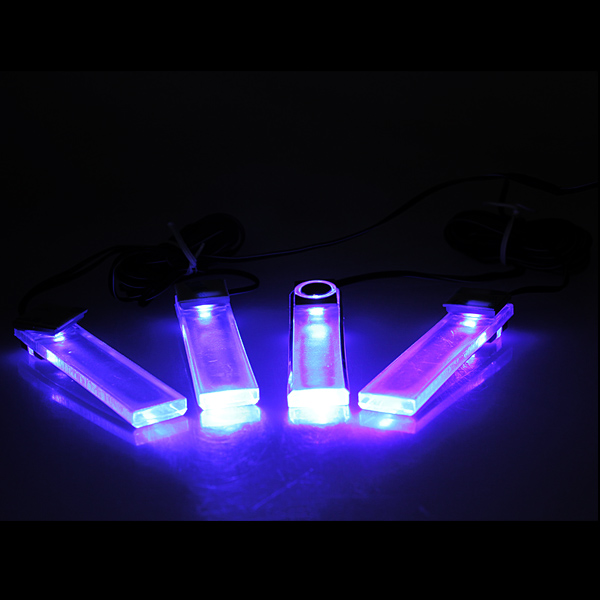4 LED Car Charge Interior Decoration Floor Dash Decorative Light