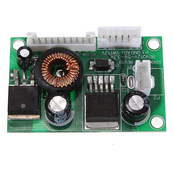 DC To DC Converter Step-down Voltage LED Power Module 3A 12V - 5V 3.3V dc 3 2 40v to dc 1 2 35v 3a auto step down lm2596s converter voltage regulator black