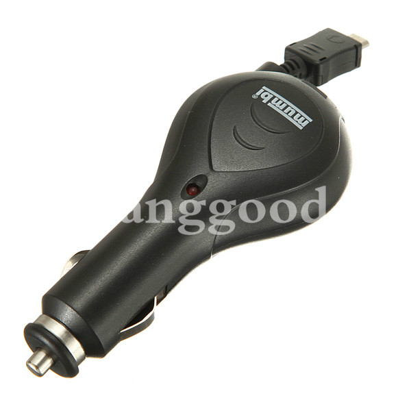 Retractable Micro USB Car Charger For Samsung Galaxy S4 S3 S2