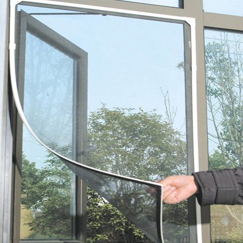 Black Anti Mosquito Pest Window Net Mesh Screen Curtain Protector the window office paper sticker pervious to light do not transparent bathroom window shading white frosted glass tint