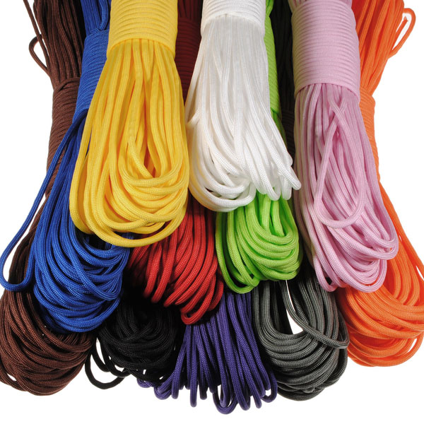 100FT 550lb Nylon Paracord Parachute Cord String Rope for Camping Hiking Survival oumily reflective multi purpose paracord nylon rope cord reflective grey 30m 140kg page 4