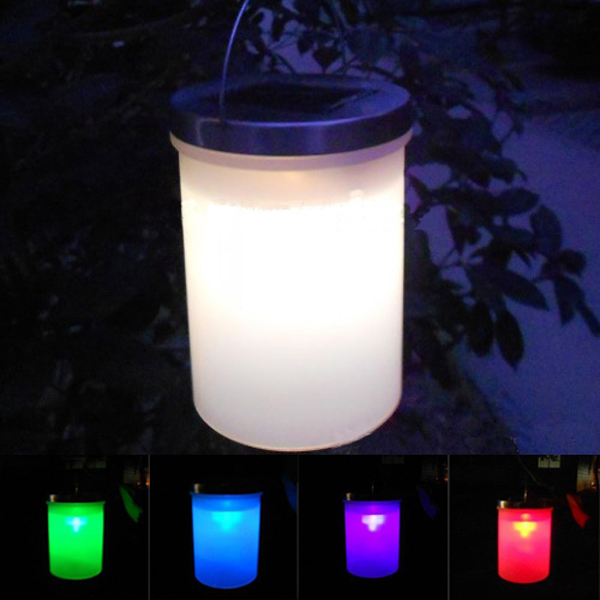 Solar Power Hanging Cylinder Lanterns LED Landscape Path Outdoor Light от Banggood INT
