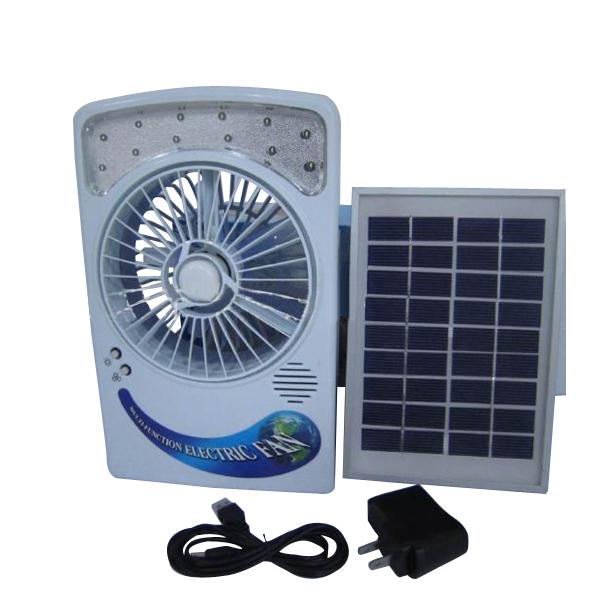 Solar Panel Fan : Configurable solar energy panel desk type usb charging air