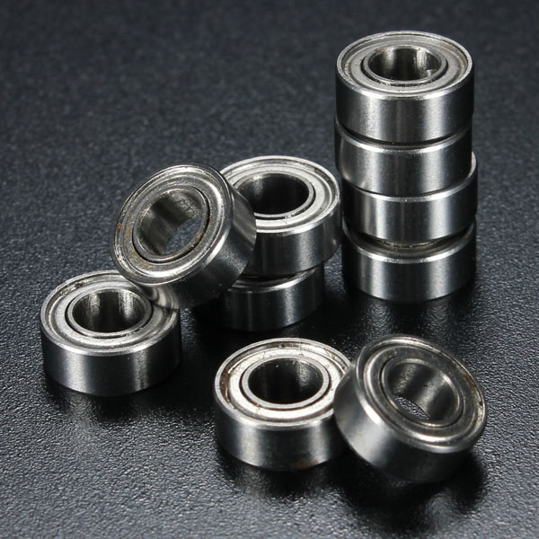 10Pcs 5x10x4mm Metal Sealed Shielded Deep Groove Ball Bearing MR105ZZ 10pc 624uu u groove hcs guide pulley rail ball bearings wheel roll 4mm 13mm 7mm