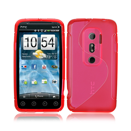 1xS-Curve TPU Gel Skin Case Cover For HTC EVO 3D