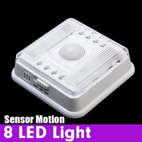Auto 8 LED Light PIR Sensor Motion Detector Wireless Infrared Indoor lumiparty led pir infrared sensor motion light bulb e27 7w auto smart led motion detecting light lamp with the motion sensor