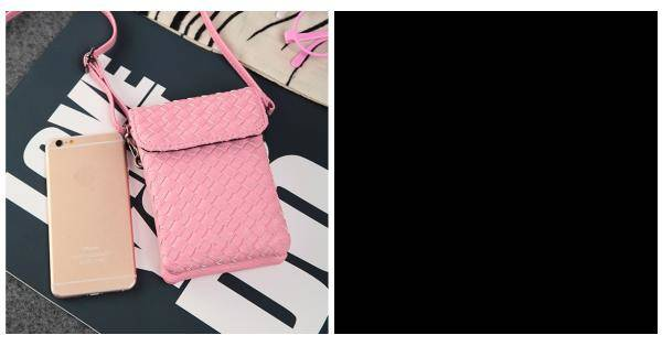 Buy Women Knit Flap Crossbody Bags Girls Two Interlayer Mini Shoulder 5.5'' Phone For Iphone