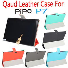 Tri-fold Ultra Thin Folio PU Leather Folding Stand Case For PIPO P7