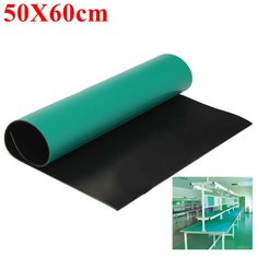 Green Desktop Anti Static ESD Grouding Mat 50x60cm For Electronics Repair
