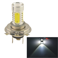 Car Auto H4 11W 5SMD LED Lens Headlamp Foglight Bulb White 12V