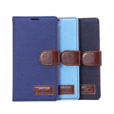 Jeans Pattern Cloth TPU Material Flip-open Case For LG G4