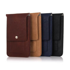 Universal 6.3 Inch Phone Case Leather Wallet Pouch Waist Phone Bag