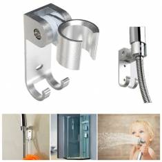 Adjustable Bathroom Wall Mounted Shower Head Holder Aluminum Bracket