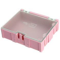 1Pc Pink Mini ESD SMD Chip Resistor Capacitor Component Box