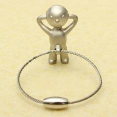 Creative Classic Silver Mr P Boy Key Chain Key Ring Gift
