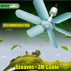 220V 7W Ultra Quiet 6 Leaves Mini Electric Hanging Ceiling Fan Anti Mosquitoes Breeze Cooler Try Me