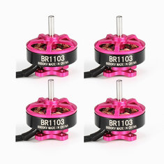 4X Racerstar Racing Edition 1103 BR1103 8000KV 1-2S Brushless Motor Pink For 50 80 100 RC Multirotor
