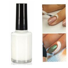 Anti-overflow Peel Off Nail Art Polish Glue Latex Liquid Tape Palisade for Easy Clean Base Coat UV Gel