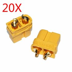 20X Upgraded Amass XT60U Male Female Bullet Connectors Plugs for Lipo Battery 1 Pairs