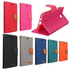 Mohoo Denim Pattern Flip Leather Case TPU Cover Card For Samsung Galaxy J5 J500F