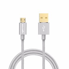 BlitzWolf® 2.1A Reversible Braided Micro USB Cable Double Sided USB A Male to Double Sided Micro B 1m/3.33ft for Android, Samsung, LG, SONY, HUAWEI, Xiaomi
