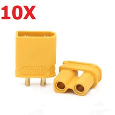 10 Pairs Amass XT30U 2mm Plug Connector Male And Female