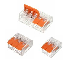 Excellway® ET25 2/3/5 Pins Spring Terminal Block Electric Cable Wire Connectors 5Pcs