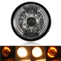 7inch H4 35W Motorcycle Halogen Headlight With LED Turn Signal