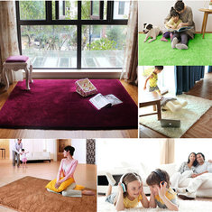80x120cm Velvet Carpet Non-slip Bedroom Yoga Floor Mat Rug