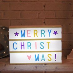 A4 Cinematic DIY LED Light Box Cinema Letter Wedding Birthday Party Shop Decoration Gift