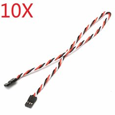 10X 22AWG 60core 30cm Male to Male JR Plug Servo Extension Wire Twisted Cable