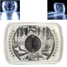 H6014/H6052/H6054 Chrome 7x6 LED Ring Projector Headlights Conversion Kit