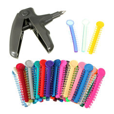 Dental Care Plastic Orthodontic Ligature Gun Dispenser Ligature Ties Set Kit Tooth Teeth Dentist