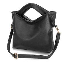 Women PU Leather Handbag Shoulder Bag Large Capacity Crossbody Bag