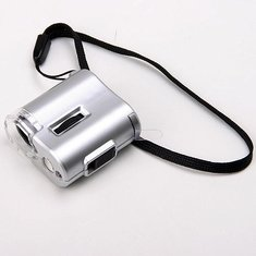 60X Microscope Loupe LED Light Magnifier Money Detector