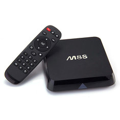 M8S Amlogic S812 4K Quad Core 2G/8G Fully Loaded KODI 14.2 Dual Band Wifi 2.4G/5G Full HD Android 4.4 Mini Smart Android TV Box Mini Smart PC