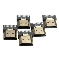 5Pcs HDMI 19Pins Male Termination Repair Kit Gold Plated Connector