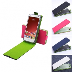 Hit Color Flip PU Leather Case For ZTE Blade S6 Q5 Q5C