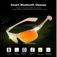Smart Bluetooth Sunglasses Voice Control Smart Touching Calling Music Anti-UV Glasses