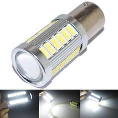 1156 BA15S 5630 33SMD Car White LED Tail Reverse Turn Light Bulb