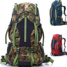 65L Outdoor Camping Hiking Mountaineering Backpack Climbing Travel Rucksack Bag