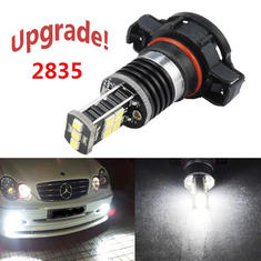 PSX24W 2835 15SMD 15W Canbus Error Free Car White LED Fog Light Bulb