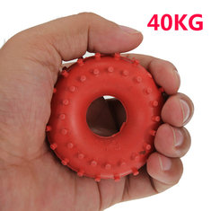 New 40KG Rubber Ring Grip Hand Gripper Device Strength Red