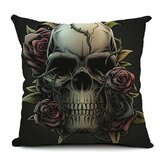 Halloween Gothic Cotton Linen Pillow Case Home Office Car Cushion Pillowcase