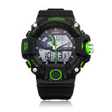 OHSEN AD2808 Sport Analog Digital Black Mlilitary Date Week Men Watch