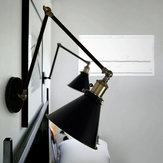 Nordic Retro Style RH Industrial Wall Lamp With Double Adjustable Arm
