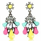 Crystal Rhinestone Resin Drop Dangle Earrings Women Jewelry