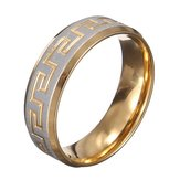 Gold Silver Great Wall 316L Stainless Steel Men Ring Jewelry